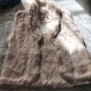 "Joie real ""rabbit fur"" vest"